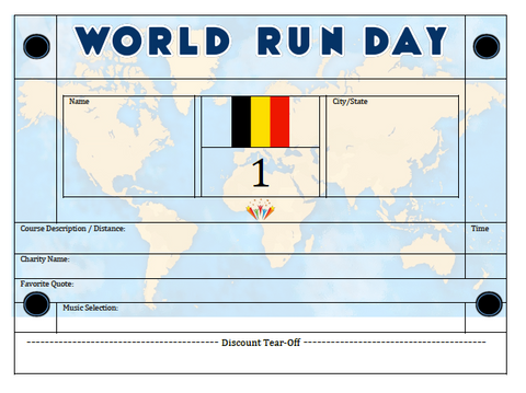 World Run Day BIB - BELGIUM