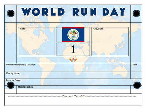 World Run Day BIB - BELIZE