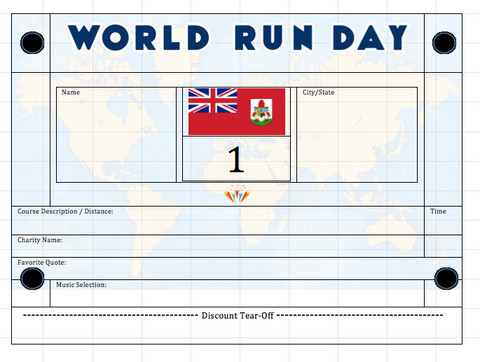World Run Day BIB - BERMUDA