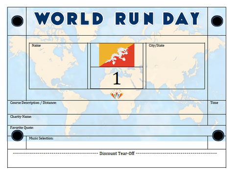 World Run Day BIB - BHUTAN