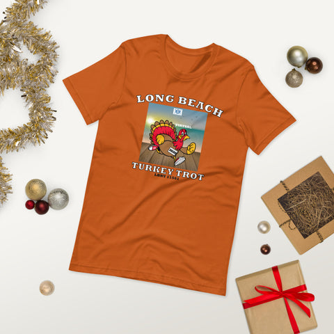 Long Beach Virtual Turkey Trot Short-Sleeve Unisex T-Shirt