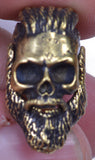 Bearded Mohawk Skull Bead