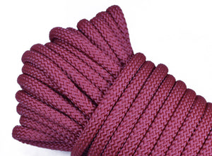 "Burgundy - 1/4"" PolyPro Rope"