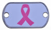 Breast Cancer Awareness Ribbon Dog Tag