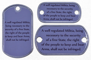 2nd Amendment Words Dog Tag
