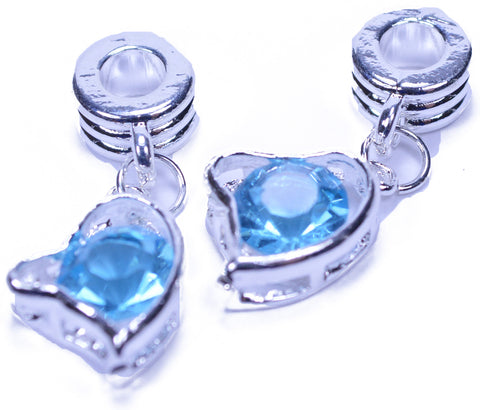 Blue Heart Bead