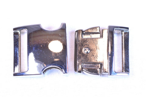 "3/4"" Chrome Metal Buckle"