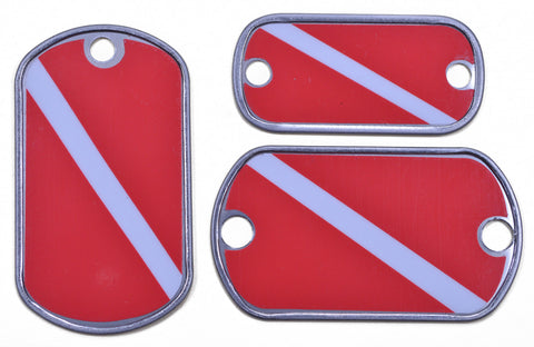 Diver Flag Dog Tag