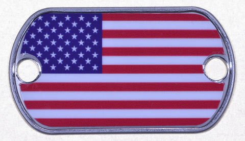 American Flag Dog Tag