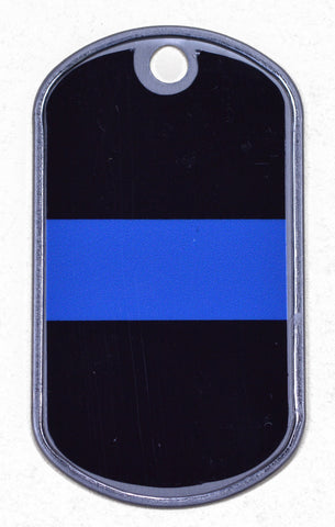 Thin Blue Line Dog Tag