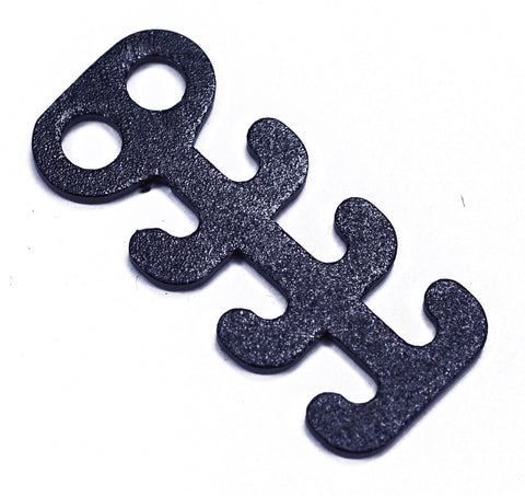 Black Fishbone Adjustable Clasp
