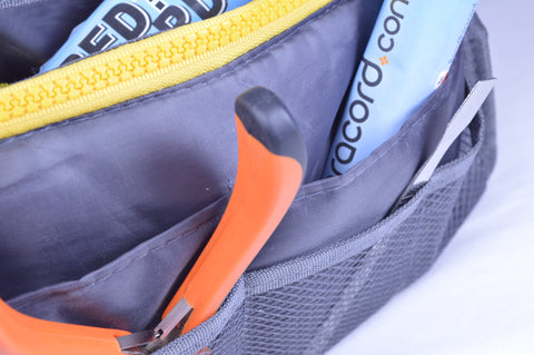 Gray and Yellow Tool Pouch
