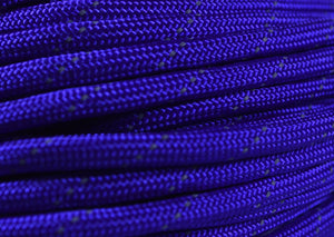 Reflective Tracer Acid Purple Paracord - 50 Feet