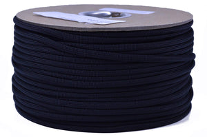 Mil-Spec Black Paracord - 250 Foot Spool