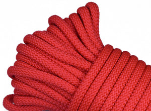 "Red - 1/4"" PolyPro Rope"
