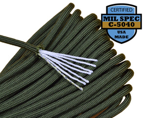 Mil-Spec Camo Green Paracord - 100 Feet