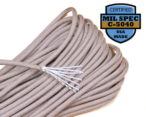 Mil-Spec Desert Tan Paracord - 100 Feet