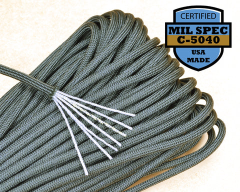 Mil-Spec Foliage Green Paracord - 100 Feet