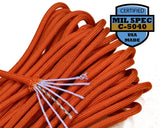 Mil-Spec International Orange Paracord - 100 Feet