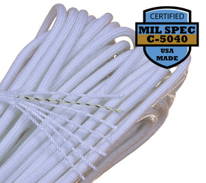 Mil-Spec White / Natural Paracord - 100 Feet