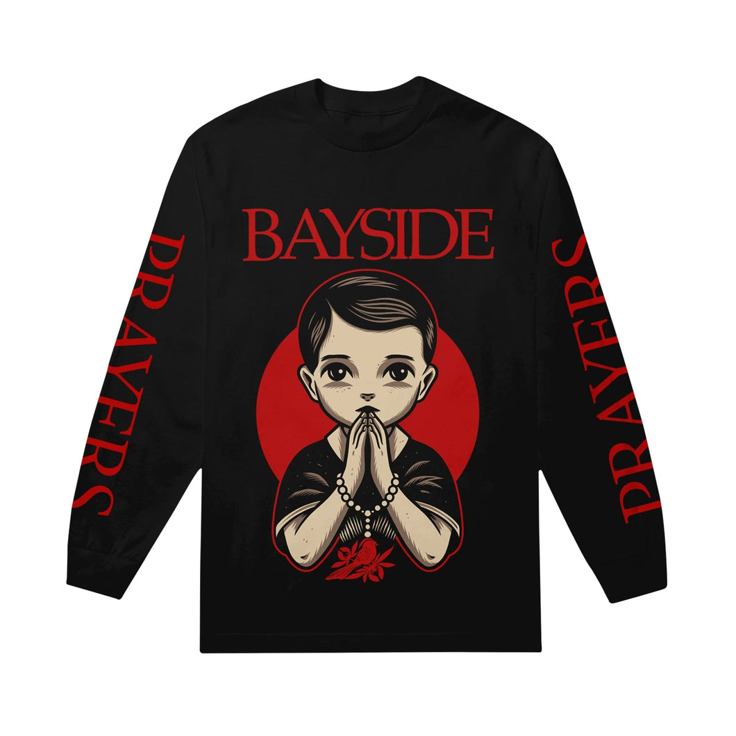 Prayers Black Long Sleeve