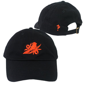 Orange Interrobang Black Dad Hat