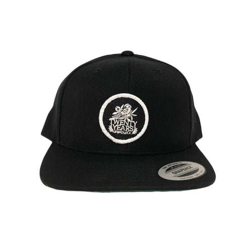 Twenty Years Black Patch Snapback Hat