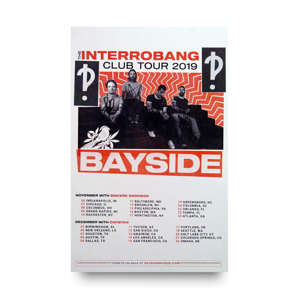 *Signed* Interrobang Club Tour Poster