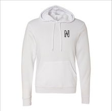 Load image into Gallery viewer, White Unisex Sponge Fleece Hoodie