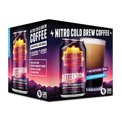 Afternoon D'lite – Nitro Cold Brew Coffee Can 4 Pack-Canned Coffee-Snowing in Space Coffee