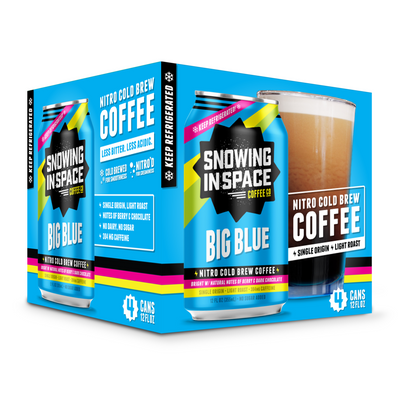 Big Blue – Nitro Cold Brew Coffee Can 4 Pack-Canned Coffee-Snowing in Space Coffee