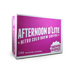 Afternoon D'lite – Nitro Cold Brew Coffee Can 12 Pack-Canned Coffee-Snowing in Space Coffee