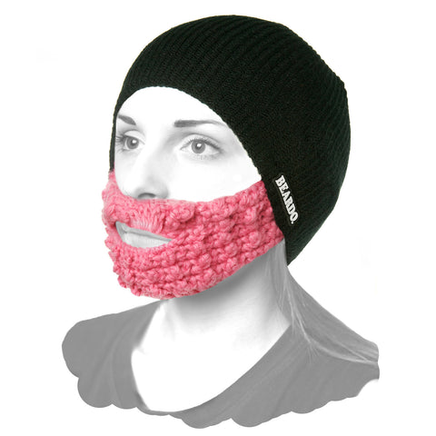 Beardo Black (Attached Pink)