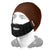 Dark Brown beanie black beard