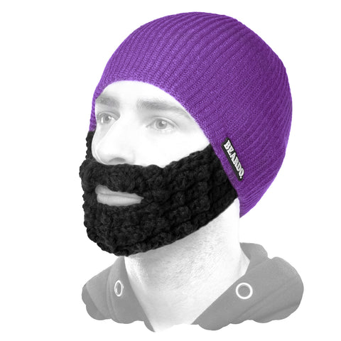 Beardo Purple (Attached Black)