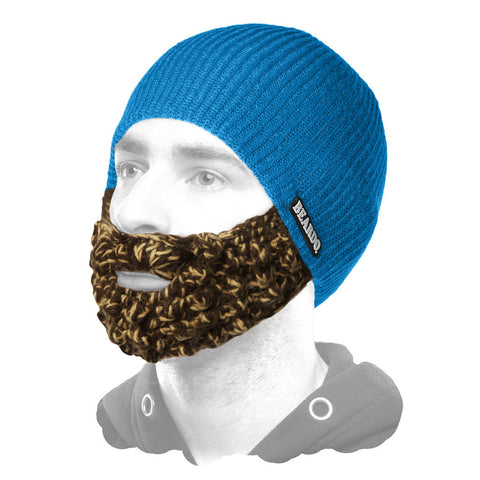 Beardo Ocean Blue (Attached Tan & Brown)