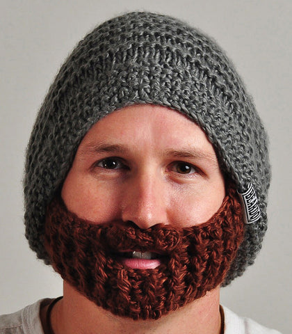 Original Beard Hat Grey/Brown - 50% off