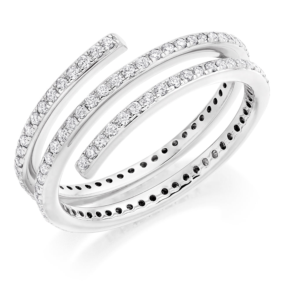 Diamond and Platinum Dress Ring