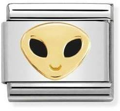 Gold Alien Head Charm