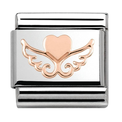 Rose Gold Heart with Wings 430104 01