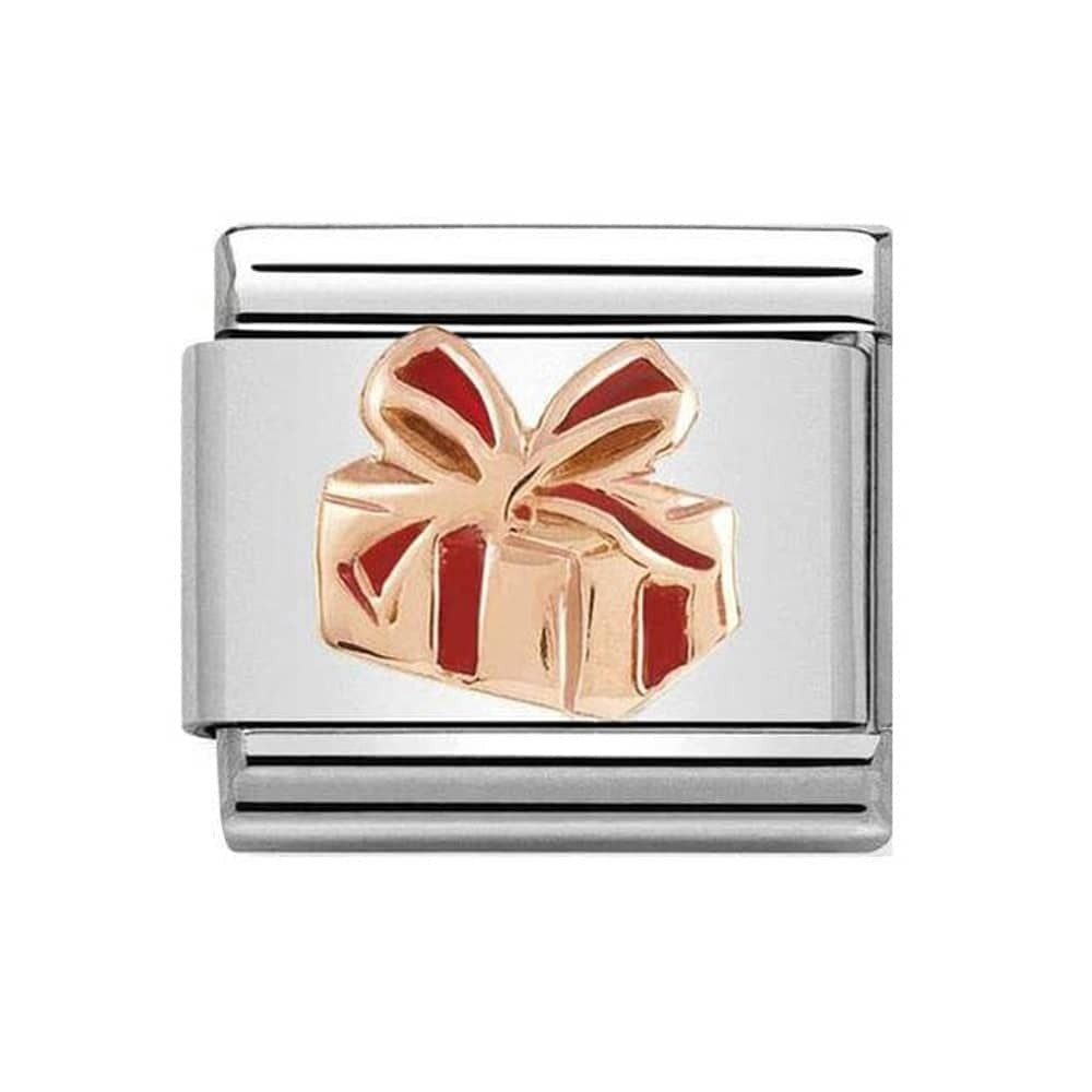Rose Gold gift with Red Enamel 430203 03