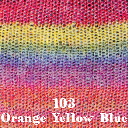 starwool lace color 103 orange yellow blue