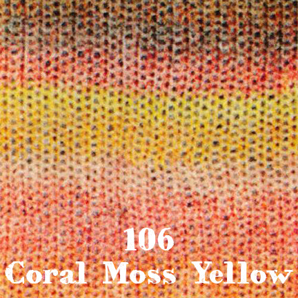 starwool lace color 106 coral moss yellow