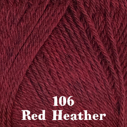 classic wool heathers 106 red heather