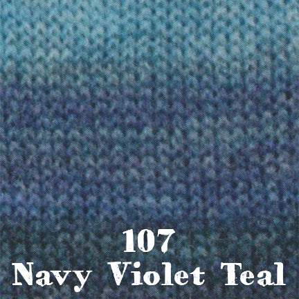 starwool lace color 107 navy violet teal
