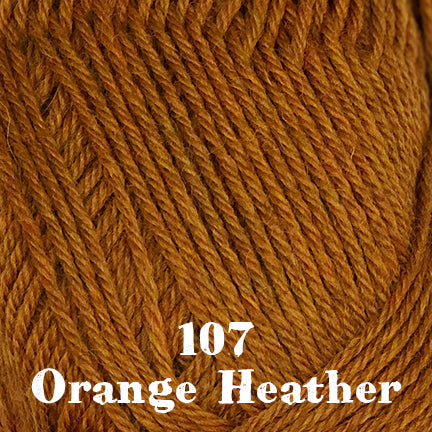 classic wool heathers 107 orange heather