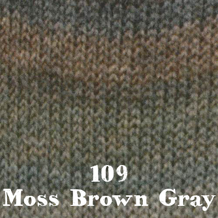 starwool lace color 109 moss brown gray