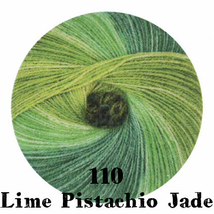 starwool lace color 110 lime pistachio jade