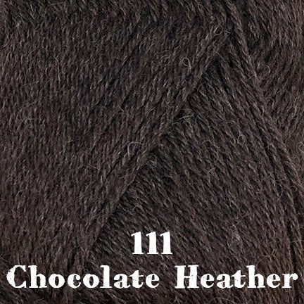 classic wool heathers 111 chocolate heather
