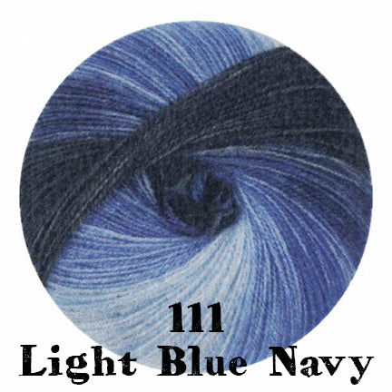 starwool lace color 111 light blue navy